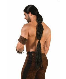 Adult Black Warrior Wig