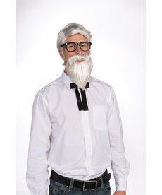 Adult White Southern Colonel Wig and Beard