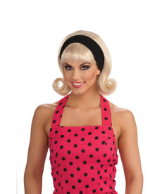 Women's 50's Blonde Flip Wig with Headband