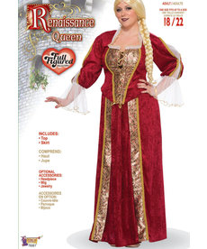 Adult Plus Size Renaissance Queen Costume