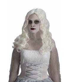 Adult White Spirited Wig