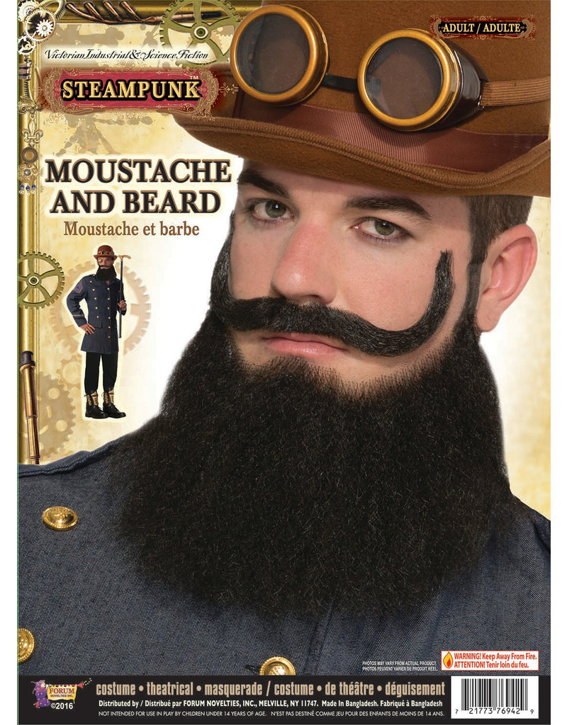 Beard & Mustache General Jax - Black