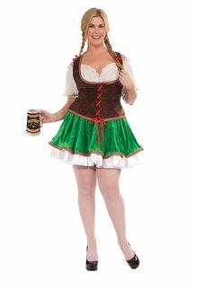Adult Plus Size Beer Garden Girl Costume