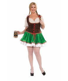 Adult Plus Size Beer Garden Girl Costume