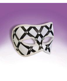 Venetian Mask: Harlequin & Rhinestone