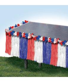 Patriotic Table Skirt: Red/White/Blue