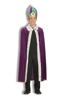 Mardi Gras Crown & Robe Set: Purple