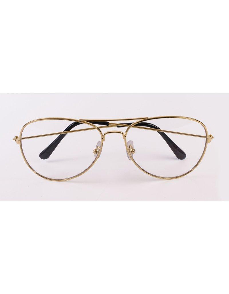Aviator Glasses: Clear Lens