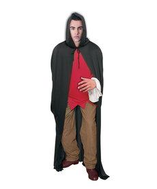 Long Hooded Cape - Black
