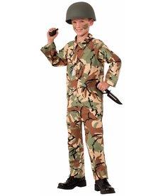 Boy's Army Jumpsuit Costume