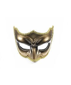 Venetian Devil Half Mask w/ Eyeglasses Arms