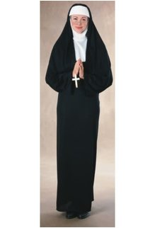 Rubies Costumes Women's Nun Costume with 3 Switching Headbands