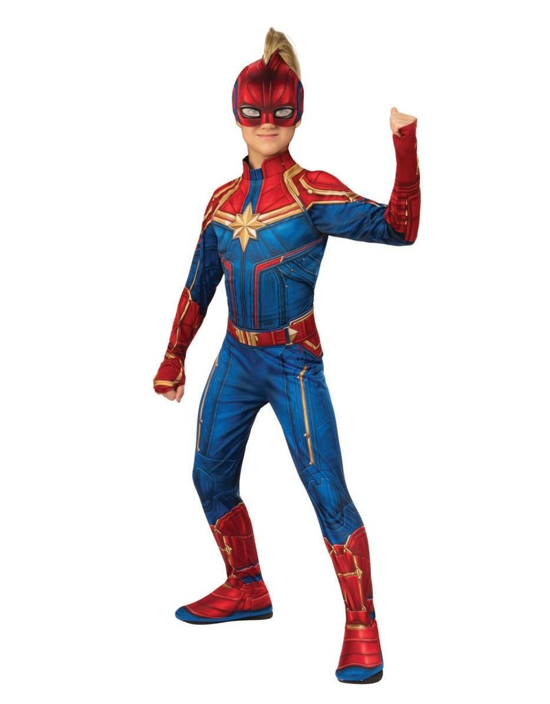 Rubies Costumes Girl's Captain Marvel Hero Suit Costume