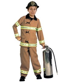 Rubies Costumes Kids Deluxe Fire Fighter Costume