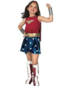 Rubies Costumes Girl's Deluxe Wonder Woman Costume