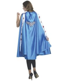 Rubies Costumes Women's Deluxe Wonder Woman Cape (Powder Blue)