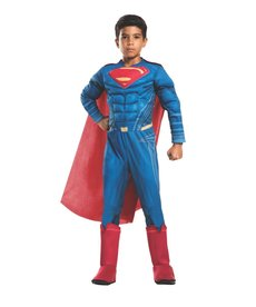 Rubies Costumes Boy's Deluxe Superman Costume with Muscle Chest
