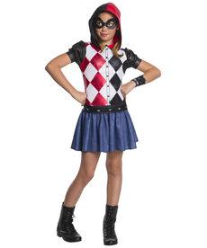 Rubies Costumes Girl's Harley Quinn Hoodie Dress Costume (DC Super Hero Girls)