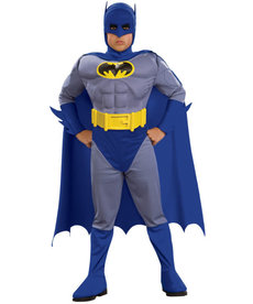 Rubies Costumes Boy's Deluxe Batman Costume (The Brave and the Bold)