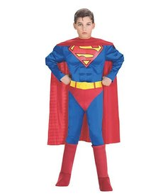 Rubies Costumes Boy's Deluxe Classic Superman Costume with Muscle Chest