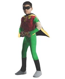 Rubies Costumes Kids Deluxe Robin Muscle Chest Costume (Teen Titans)