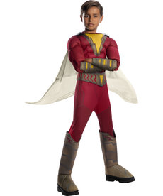 Rubies Costumes Boy's Deluxe Shazam Costume with Muscle Chest
