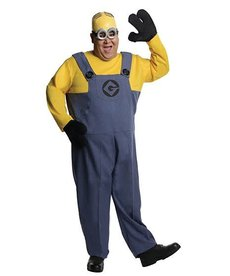Rubies Costumes Men's Plus Size Minion Dave Costume