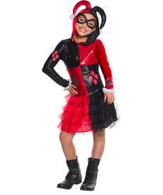 Rubies Costumes Girl's Harley Quinn Hooded Dress Costume