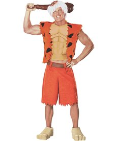 Rubies Costumes Men's Deluxe Bamm Bamm Costume with Muscle Chest