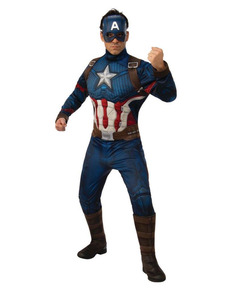 Rubies Costumes Men's Avengers: Endgame Deluxe Captain America Costume
