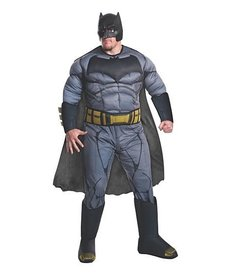 Rubies Costumes Men's Plus Size Deluxe Batman Costume (Justice League)