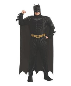 Rubies Costumes Men's Plus Size Deluxe Batman Costume (Dark Knight Trilogy)