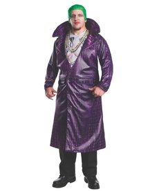 Rubies Costumes Men's Plus Size Deluxe The Joker Costume (Suicide Squad)