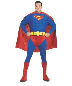 Rubies Costumes Men's Plus Size Deluxe Superman Costume