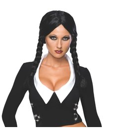 Rubies Costumes Adult Deluxe Wednesday Addams Wig