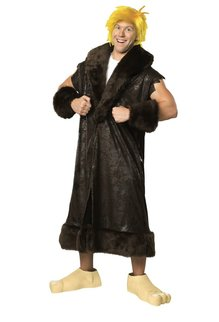 Rubies Costumes Men's Plus Size Barney Rubble Costume