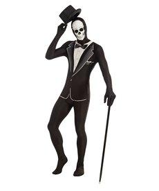 Adult  Disappearing Man Skull Tuxedo Costume