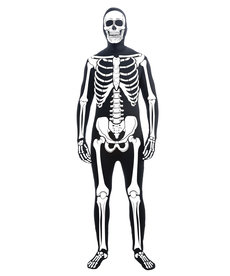 Adult Disappearing Man Bone Suit Costume