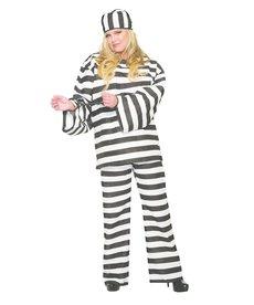 Women's Plus Size Convict Costume
