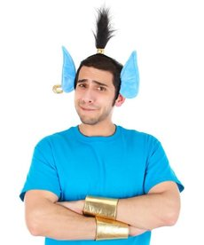 elope Men's Genie Headband & Cuffs Kit (Aladdin 2019)