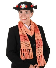 Disney Mary Poppins Classic Black Hat and Scarf