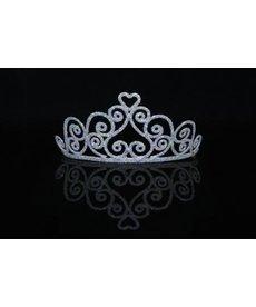 elope elope Silver Sparkle Heart Tiara