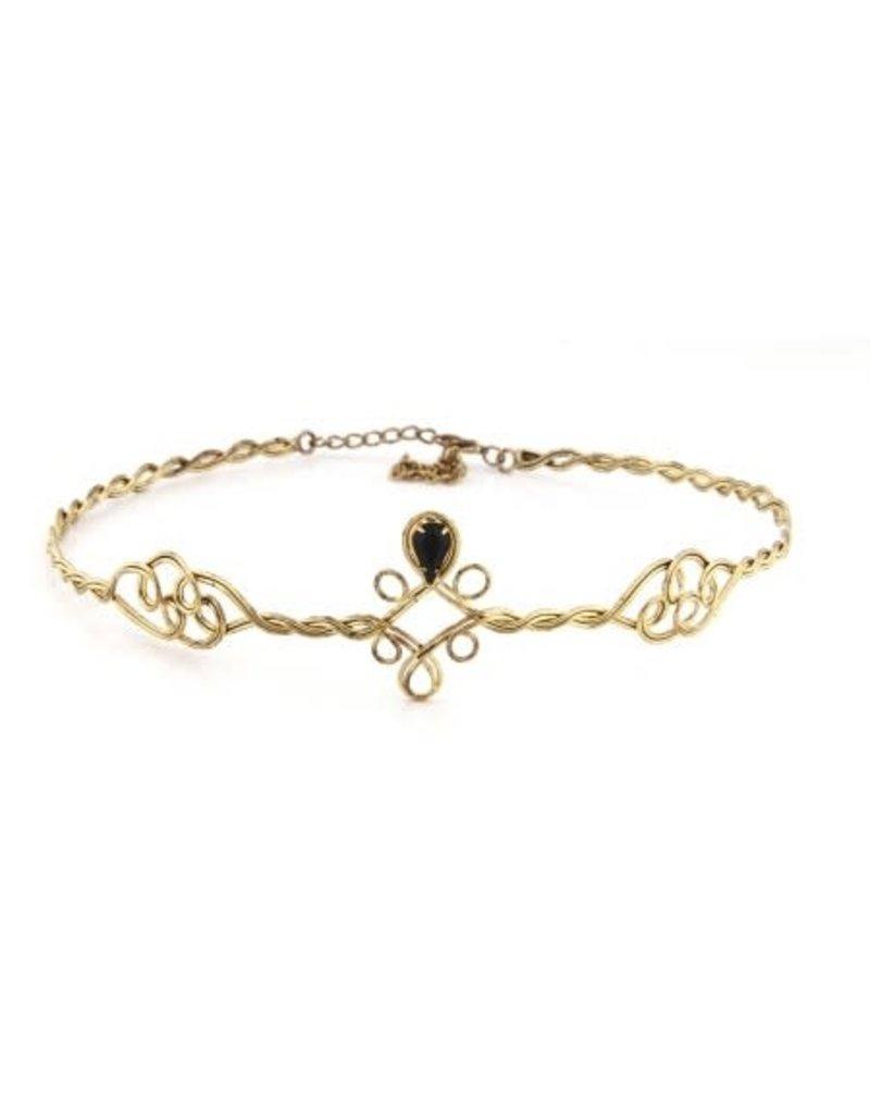 elope elope Antique Gold/Black Adjustable Circlet
