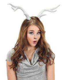elope elope Deer Antlers Silver Glitter