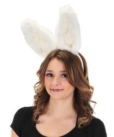elope Bendy Bunny White Ears Headband