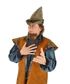 elope elope Robin Hood Plush Moss Green Hat