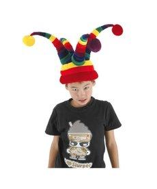 elope Rainbow Wacky Jester Plush Hat