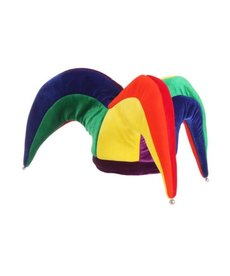 Elope Court Jester Plush Hat Multicolor