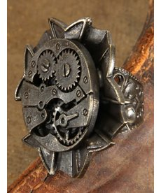 elope elope Steamworks Antique Watch Gears Ring