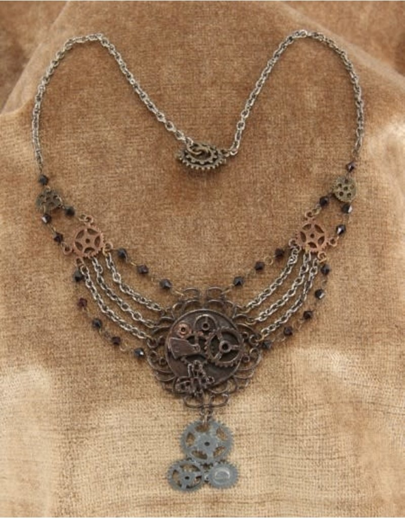 elope elope Steamworks Chain Gear Necklace Antique
